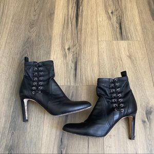 Jimmy Choo 8.5 38.5 MALLORY Black Leather Bootie
